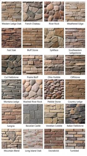 Tipuri de piatra folosita in placaje