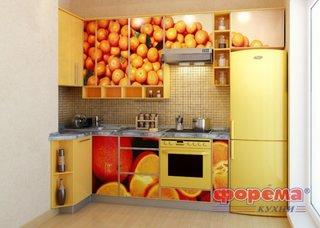 Mobila de bucatarie cu fronturi imprimate cu imagini