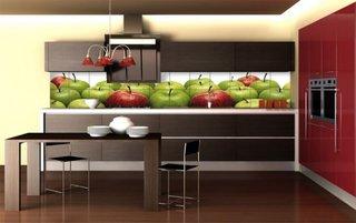 Model de faianta pentru bucatarie cu mere 3D