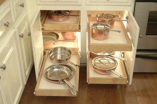 Idei de organizare pentru dulapurile din bucatarie