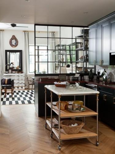 Insula de bucatarie mobila in stil industrial pentru un decor modern