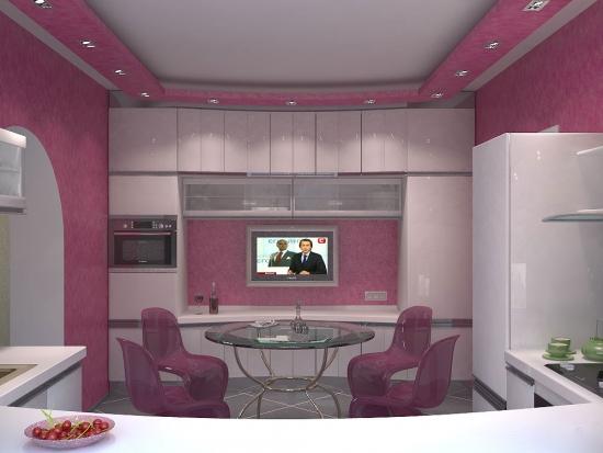 Scafa decorativa roz cu spoturi