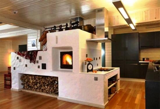Bucatarie rustic moderna cuptor zidit