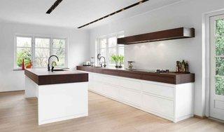 Combinatie de lemn de nic si lemn alb pentru mobila de bucatarie
