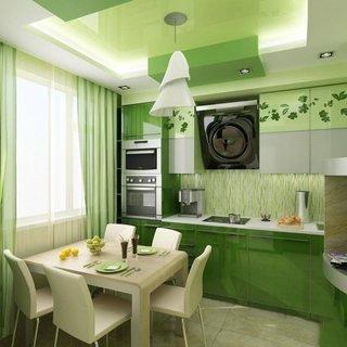 Bucatarie culoare verde menta