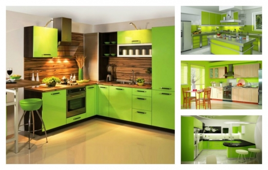 10 bucatarii decorate in culoarea verde