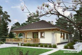 Casa cu veranda eleganta