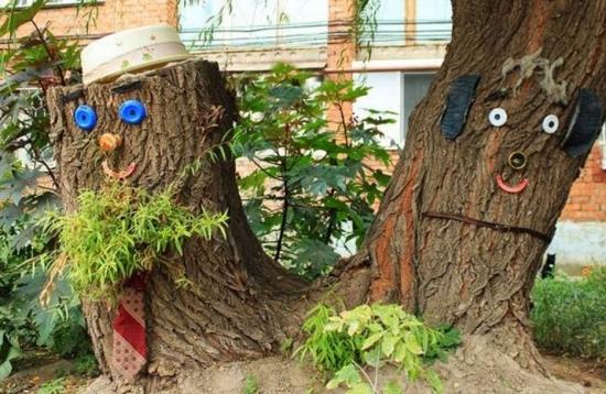 Idee geniala pentru decorare busteni taiati