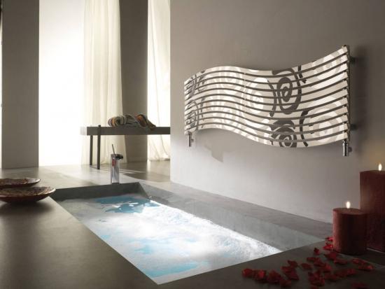 Calorifer decorativ ornamental baie