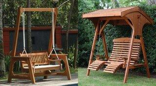 Modele leagane si balansoare din lemn pentru curte