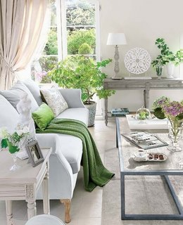 Living relaxant cu accente de verde