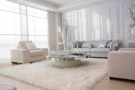Canapea Chesterfield culoare alb crem