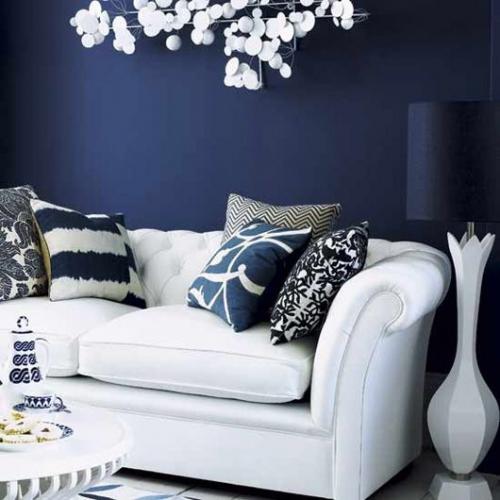 Canapele albe pentru living | Imagini cu modele
