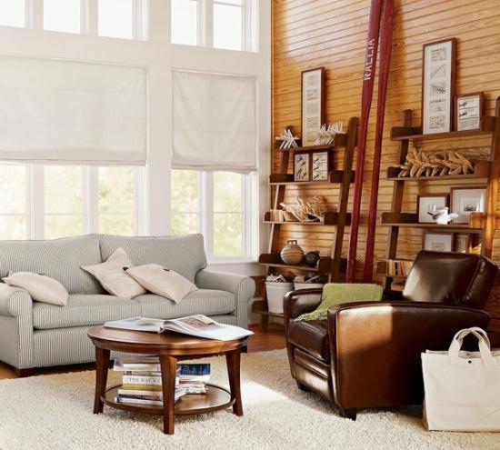 Combinatie de canapea din material textil si fotoliu din piele