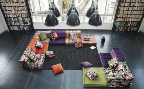 Canapele modulare - modele frumoase si colorate
