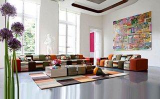 Canapea modulara viu colorata