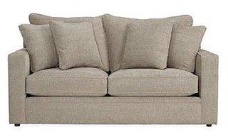 Canapea clasica de doua locuri cu perne decorative