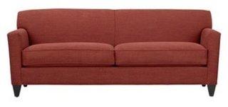 Canapea clasica din stofa cu picioare din lemn