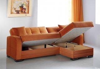 Canapea sectionala portocalie