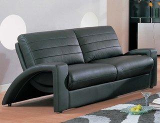 Model interesant de canapea din piele meagra