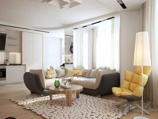 Canapea pe semirotund in doua culori