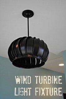 Turbina de vant folosita ca si abajur