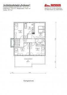 Plan etaj cu 4 dormitoare si 2 bai