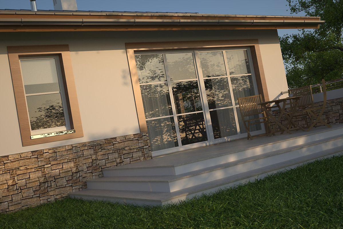 Casa cu terasa fara acoperis