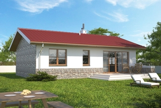 Casa cu terasa si parter
