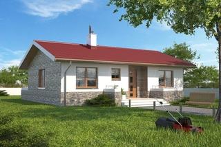 Casa parter cu acoperis rosu