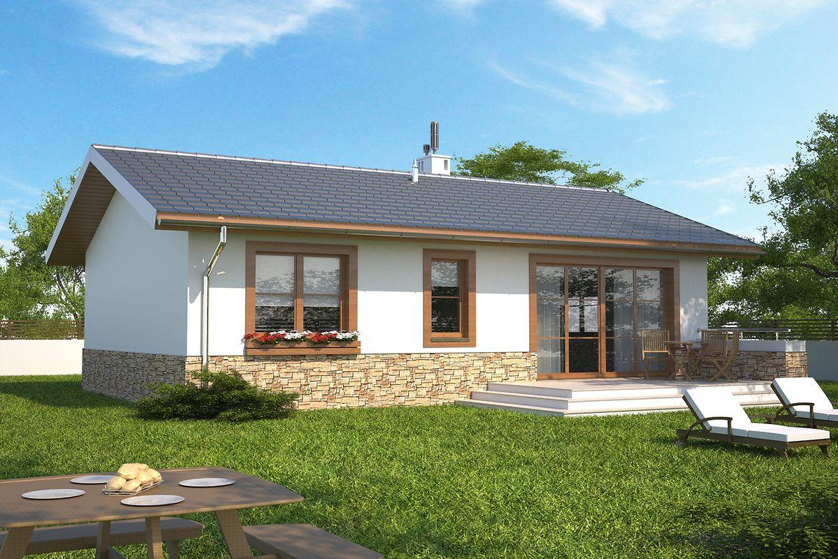 Proiect casa mica de 68 mp utili