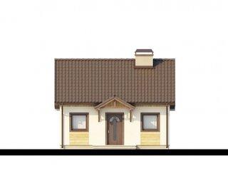 Proiect casa mica parter 44 mp vedere fata