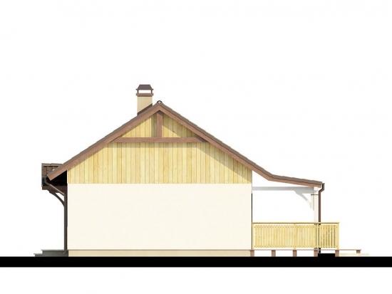 Proiect casa mica parter 44 mp vedere lateral dreapta
