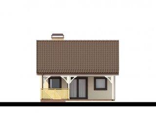 Proiect casa mica parter 44 mp vedere spate