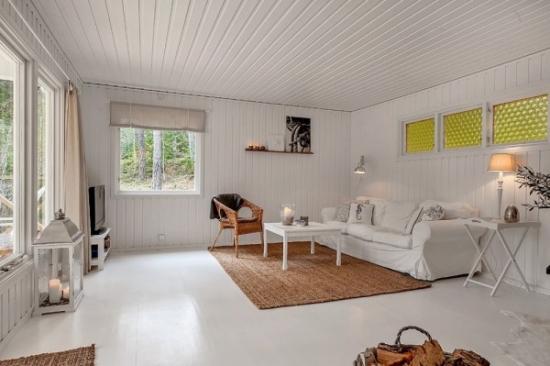 Idee amenajare living casa de vacanta mica