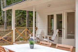Veranda din lemn acoperita