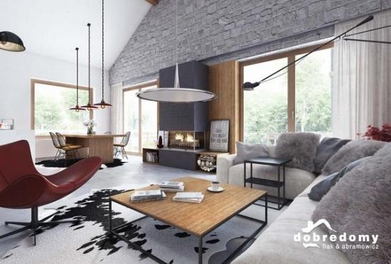 Interior living casa cu terasa si 2 dormitoare