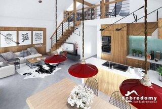 Open space casa mica cu parter si mansarda