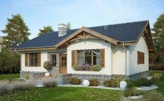 Casa frumoasa doar parter si elemente rustice