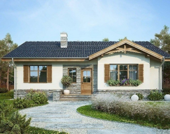 Casa superba parter cu elemente de piatra