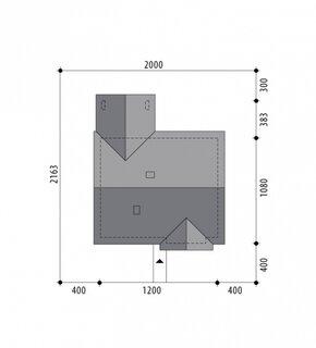 Plan amplasare casa cu parter si amprenta 12 pe 11