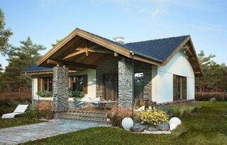 Terasa cu stalpii placati cu piatra naturala