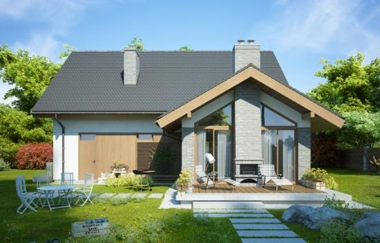 Proiect de casa P+M cu 4 dormitoare si garaj