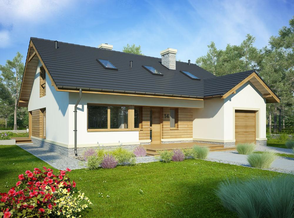 Un proiect fabulos de casa P+M - De construit si pe suprafete mici de teren !
