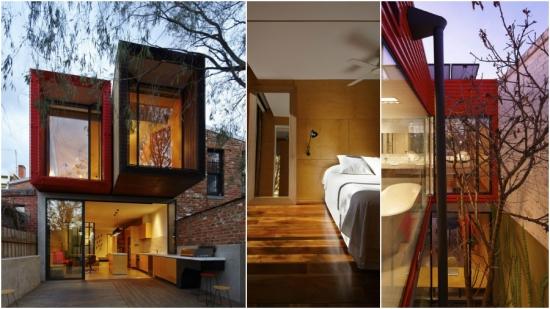 Casa moderna cu fatada de sticla