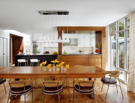 Dining amenajat in stil rustic modern