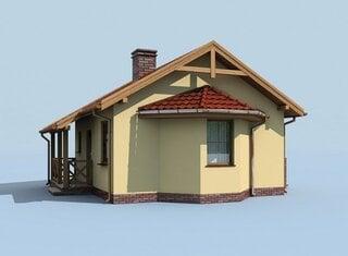 Randare tridimensionala casa mica