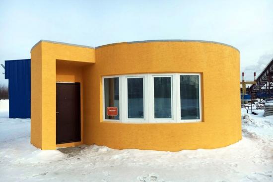 Casa construita cu imprimanta 3D