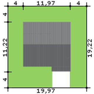 Dimensiuni teren casa cu 3 dormitoare si living