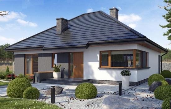 Proiect de casa eleganta construita pe un singur nivel